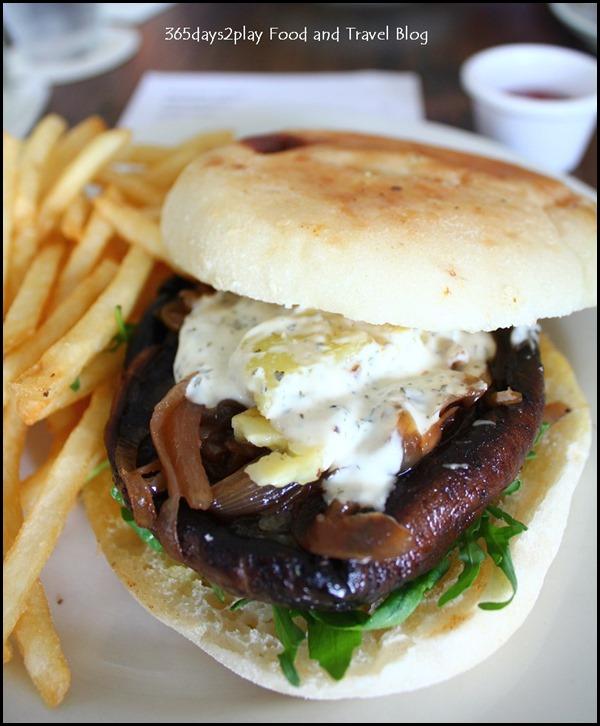 Rider's Cafe - Portobello and Halloumi Burger $16 (1)