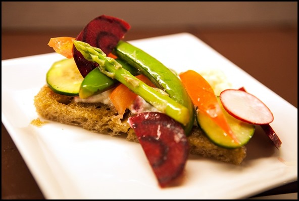 Seasonal Vegetable Tartine