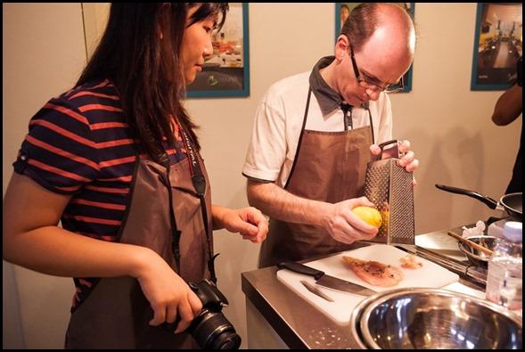 The Partner cooks
