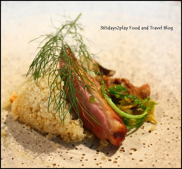Tippling Club Pigeon, celery, quinoa, goats curd by Chef Ryan Clift (2)