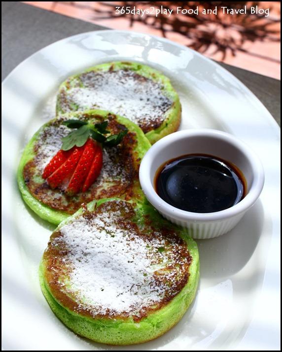 Pandan-Coconut Pancake with Gula Melaka Syrup  $9   (3)