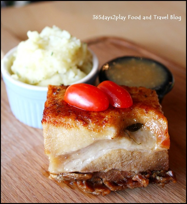 Rokeby Cafe Bistro - 200gm Kurobta Pork Belly served with apple sauce and mash$25 (2)