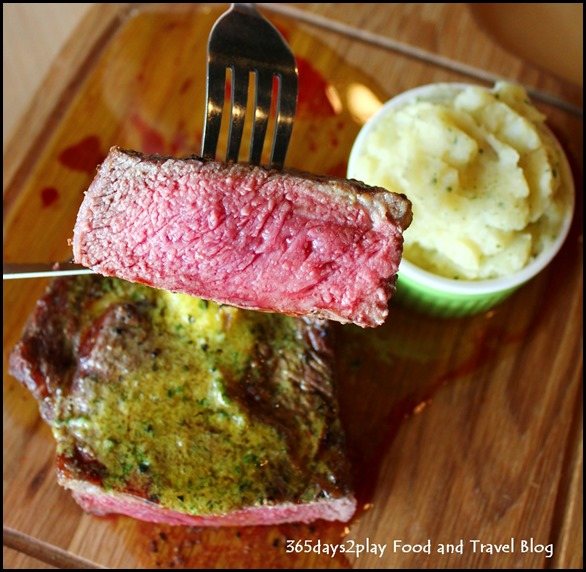 Rokeby Cafe Bistro - 500 g grilled Aussie Ribeye Steak with special home-made compound butter (mixed herb or curry butter) (16)