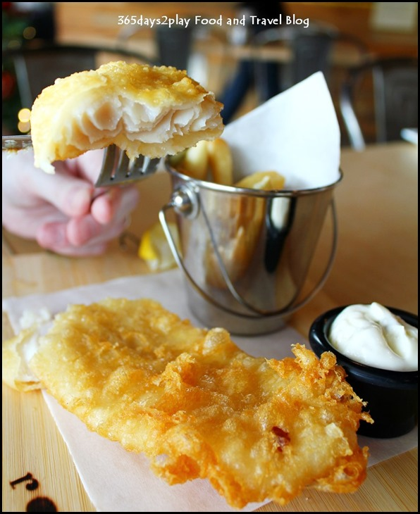Rokeby Cafe Bistro - Fish & Chips $16.90 (beer battered pacific dory) (1)