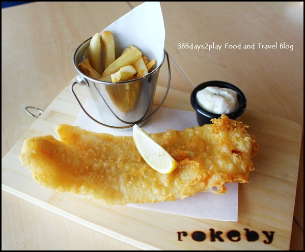 Rokeby Cafe Bistro - Fish & Chips $16.90 (beer battered pacific dory) (5)