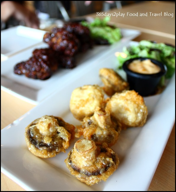 Rokeby Cafe Bistro - Vegemite Glazed Chicken $11.90 and Mushroom Fritters $9 (2)