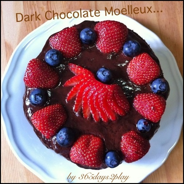 365days2play's Dark Chocolate Moelleux cake