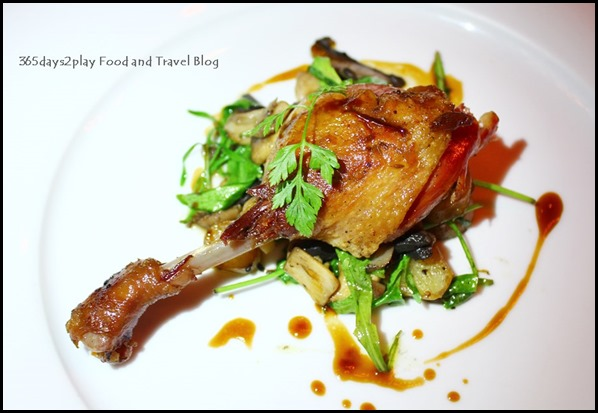 Absinthe Restaurant Francais - Canard (French Duck Leg Confit, Sarladaise Potatoes, Mushrooms, Madiran Wine Sauce; $42  )