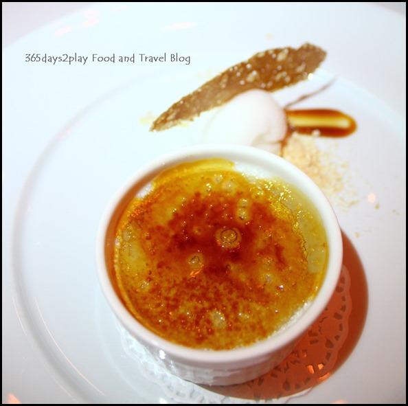 Absinthe Restaurant Francais - Crème Brûlée (Jasmine Crème Brûlée with Yuzu Sorbet; $15 ) (3)