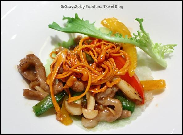 Crystal Jade Golden Palace -  Sauteed Kurobuta Pork Strips with Assorted Mushrooms and Capsicum $32 (1)