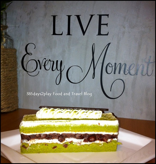 To-gather Cafe - Matcha Red Bean Cake $3.90