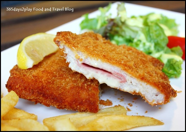To-gather Cafe - Pork Cordon Bleu  -  $10.9 (Pork Loin Stuffed with Ham & Cheese, and served with fries & seasonal Vegetables) (2)