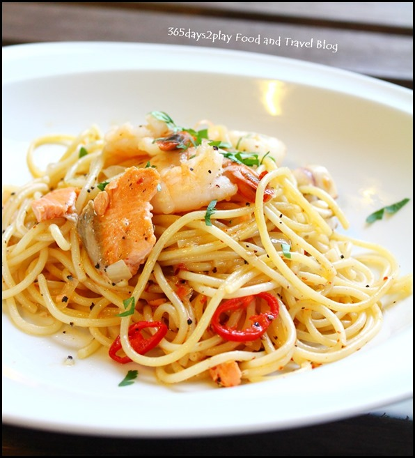 To-gather Cafe - Seafood Aglio Olio  -  $8.90