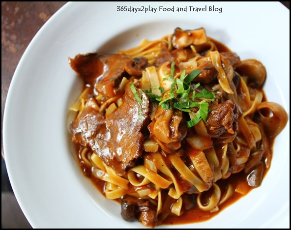 Oriole Cafe Bar - Beef Cheek Tagliatelle (red wine and citrus braised beef cheek, mushroom, shallot oil) $22 (1)