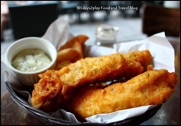 Oriole Cafe Bar - Fish and Chips (Battered snapper fillets, hand-cut chips, tartare sauce or malt vinegar) $19 (1)