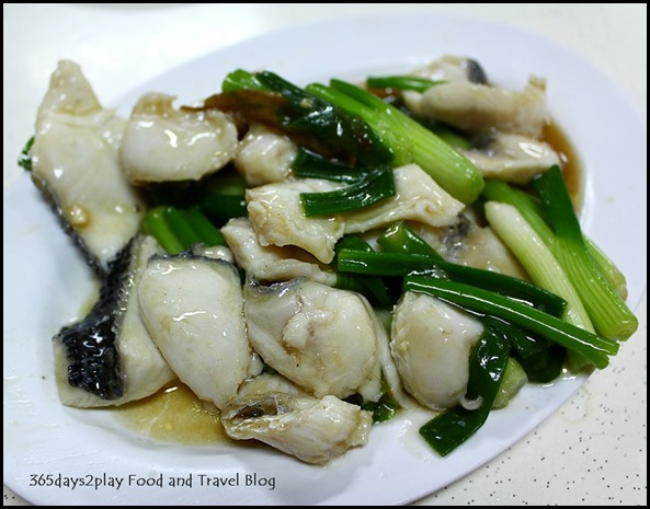Two Chefs Eating Place - Sliced fish with ginger and spring onions $8