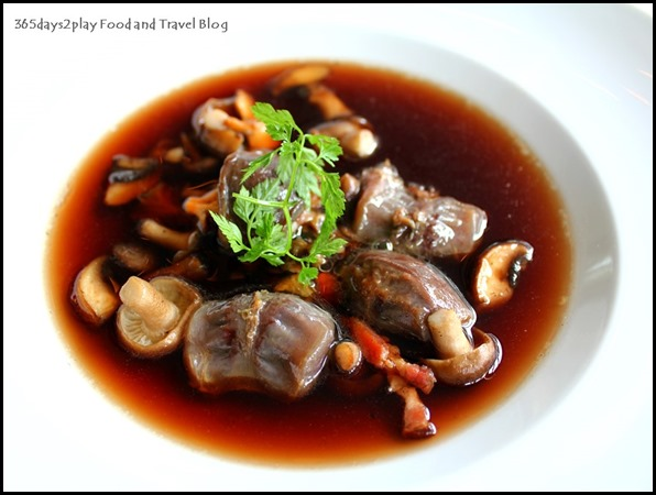 Au Jardin - Fricasee of Mushroom, duck gizzard confit and bacon in mushroom broth (2)