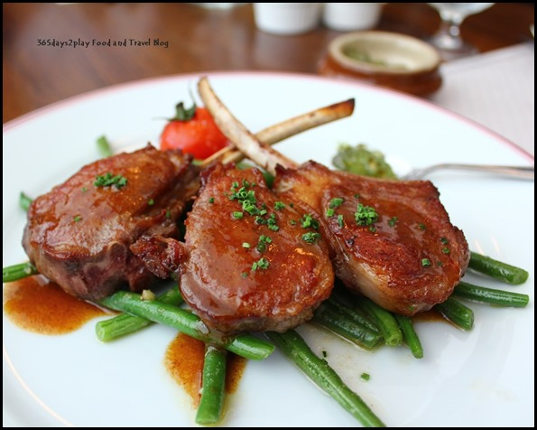 Balzac Brasserie - Roasted Rack of NZ lamb, Provencale Style served with French Beans $38 (4)