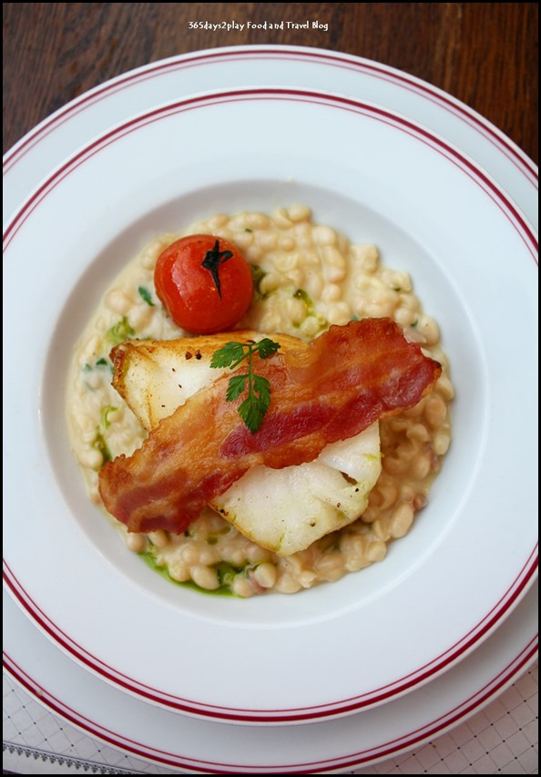 Balzac Brasserie - Slow Cooked Black Cod with Ragout of White Beans and French Bacon $28 (2)
