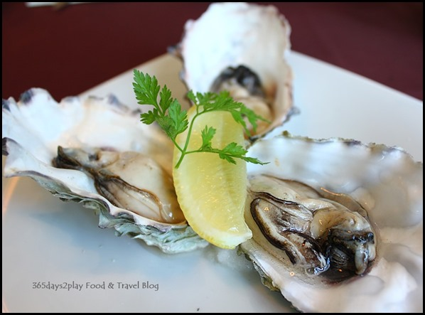 Arossa - Oysters with Champagne Vinegar, Lemon 1pc $8, 6 pc $42 (2)