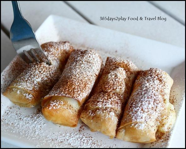 Blu Kouzina - Bougatsa - Hot filo pastry filled with semolina cream filling and topped $13 (1)