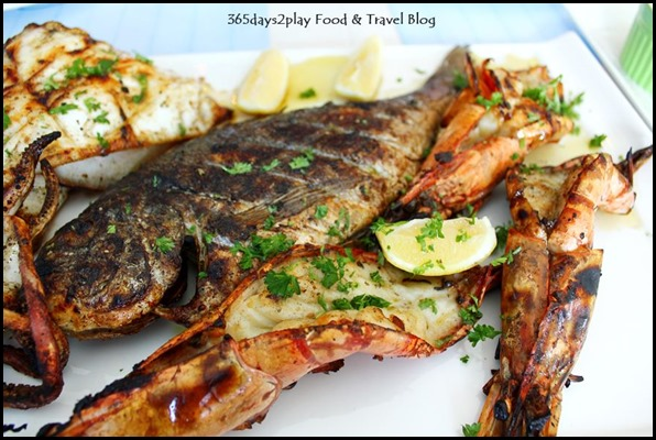 Blu Kouzina - Seafood Platter - Grilled Squid, Jumbo Prawns, Sea Bream 400g - $103 (4)