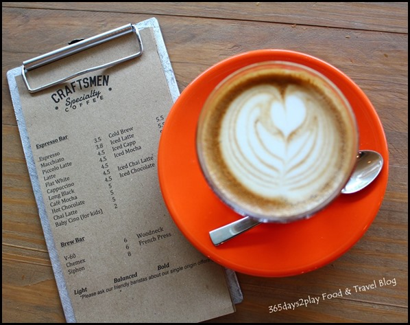 Craftsmen Speciality Coffee - Cafe Latte $4.50