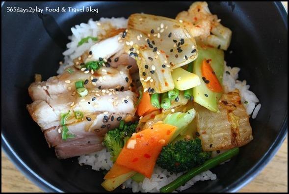 Ku De Ta - Donburi (Pork belly, mix vegetables with chilli garlic, teriyaki)