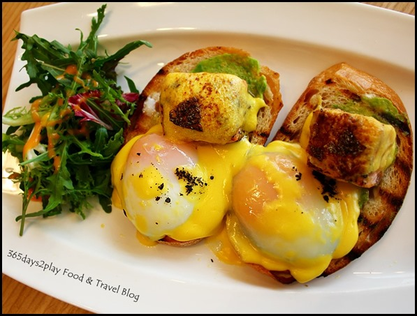 The Missing Pan - 62 Degree Eggs Benedict - Smoked salmon, avocado, seaweed crumbs on sourdough with in-house hollandaise sauce ($22  ) (2)