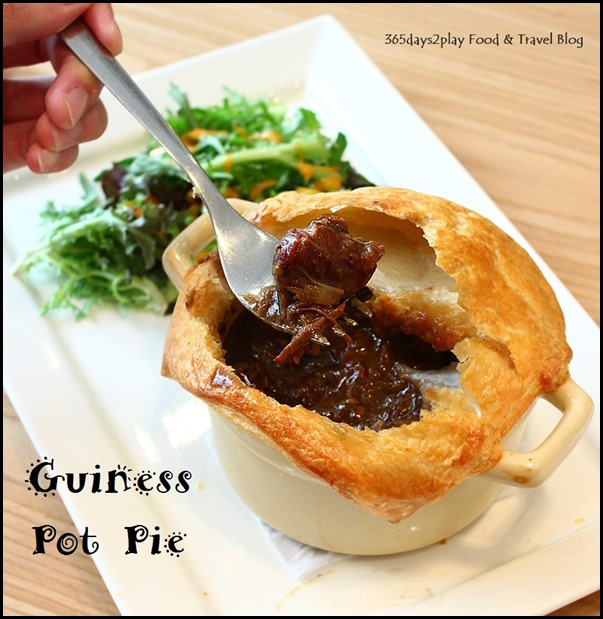 The Missing Pan - Guinness Pot Pie - Hearty beef stew with Guinness topped with puffed pastry ($24  ) (1)