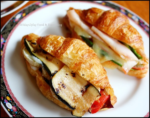 Conrad Singapore - Turkey Ham and Cheddar Cheese Croissant and Grilled Vegetables Croissant $4.50 nett each
