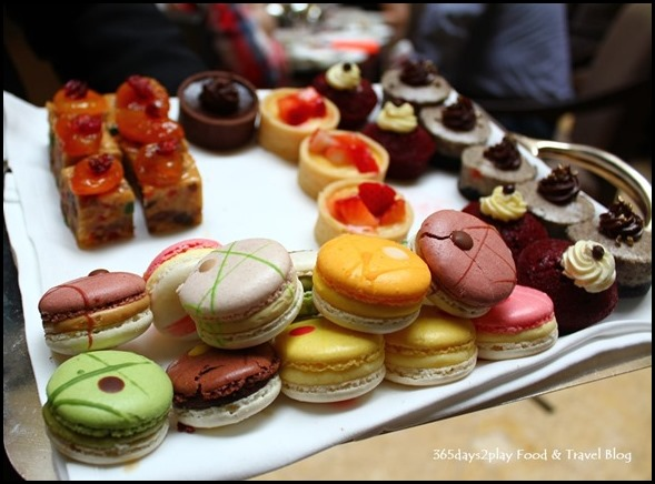 Fullerton Hotel Afternoon Tea Macarons and Cakes tray (2)