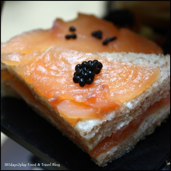 Fullerton Hotel Afternoon Tea Smoked Salmon and caviar sandwiches (2)