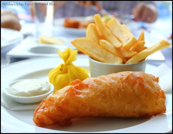 The Pool Grill at Marriott Hotel - Cod Fish and Chips $28