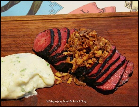 Halia at Raffles - 'Gunpowder' Wagyu Topside Mayura Sation (MBS8-9), spring onion mash, mushroom sauce  (1)