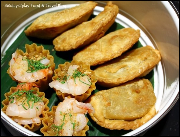 Pan Pacific Peranakan Afternoon Tea Set  - Kuay Pie Tee with Sweet Turnip and Prawn and Crispy Homemade Curry Puff