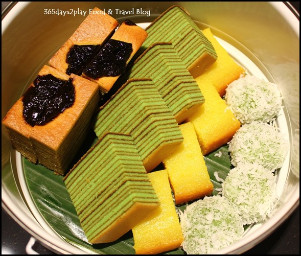 Pan Pacific Peranakan Afternoon Tea Set  - Kueh Lapis, Tapioca Cake, Onde Onde