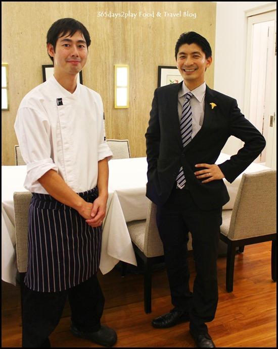 Chef Ryoichi Kano and GM Daisuke Kawai