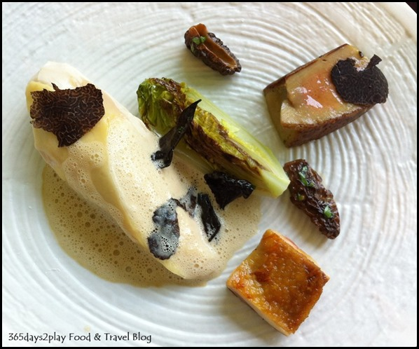 Corner House - Free-Range Chicken with Surf & Turf Sauce, foie gras, romaine lettuce, Manjimup black truffle, morel