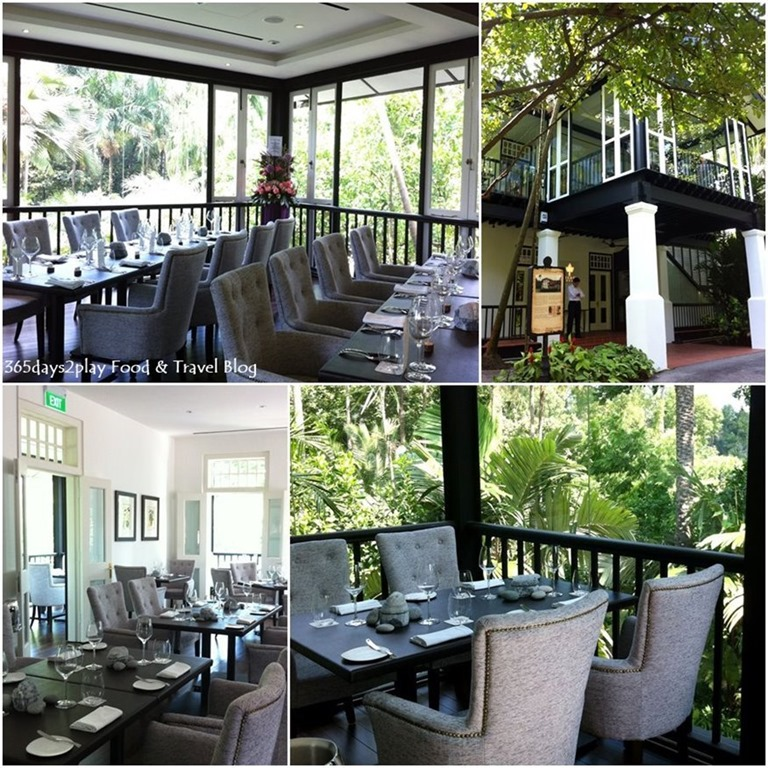 Corner house botanic gardens sparkling or still au jardin for Au jardin restaurant singapore