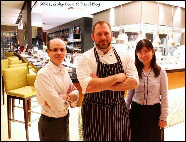 Osia Restaurant - Us with Tim Montgomery
