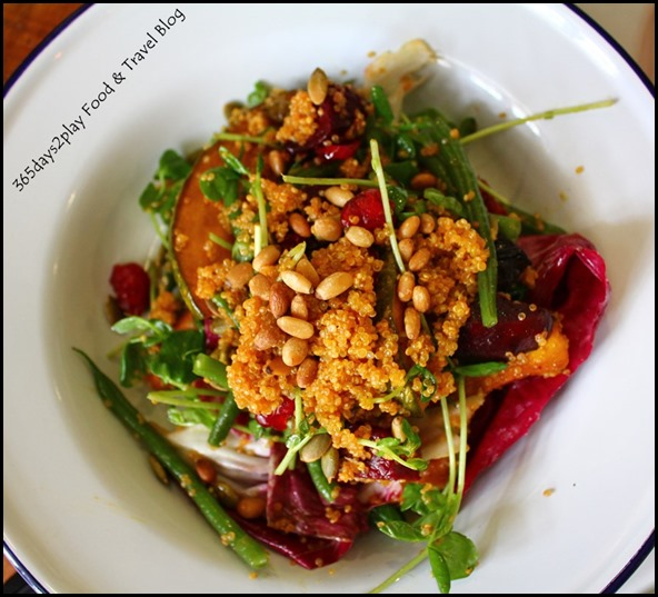 The Lokal - Salad of roasted pumpkin, french beans, quinoa, cranberries, pumpkin seeds, beetroot, house vinaigrette $16