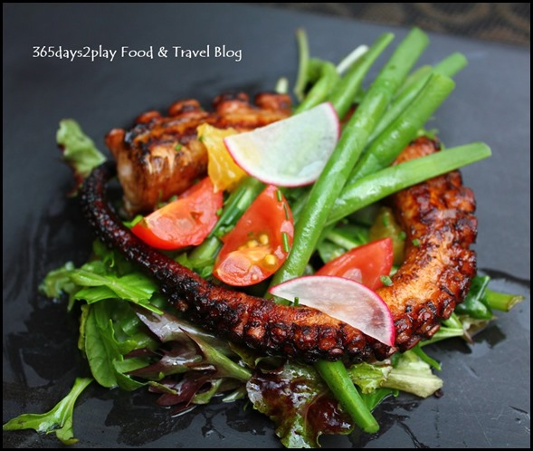 Burlamacco - Balsamic Grilled Octopus Tentacles swerved with Fine Beans and Orange $28 (2)