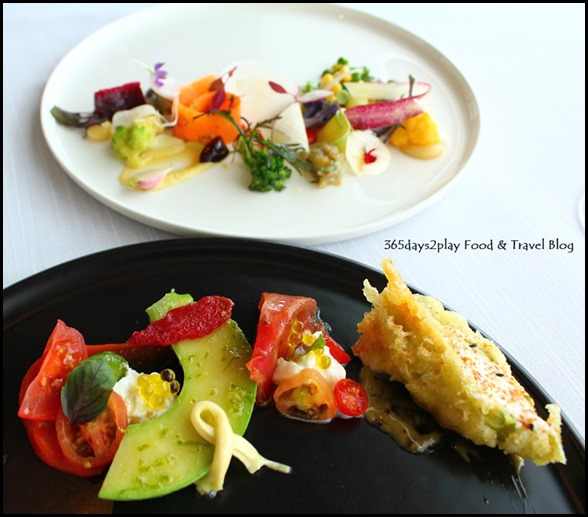 Jaan - Zucchini Trumbetta with burrata artigiana, tomato collection, nicoise olive (1)