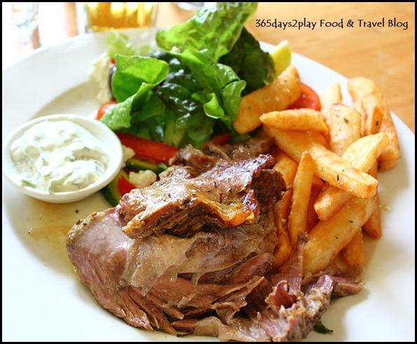 Mavises' Kitchen - 3 Hr Slow Cooked Greek Style Lamb w Rosemary chips, organic greek salad, Persian Feta & Tzaziki $29 (1)
