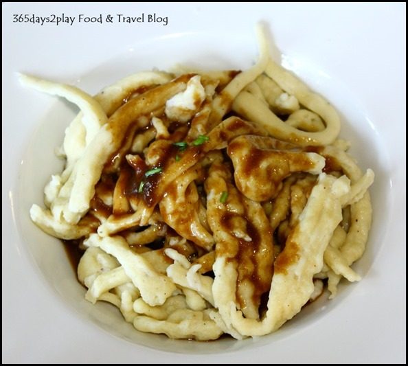 Stuttgart Blackforest Cafe - Homemade Swabian Pasta with Gravy (Spatzle) $5