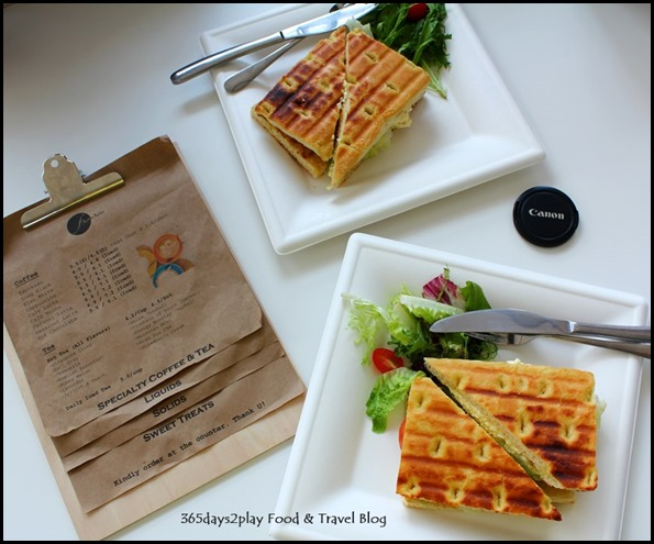 Fart Tartz Cafe - Grilled Sandwich (Fishy Tuna $7.90 & Creamy Egg $6.90 (2)