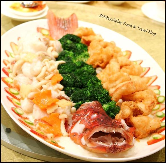 Li Bai Sheraton - Red Garoupa prepared 2 ways - Sauteed Fillet and Deep-Fried
