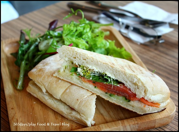 Refuel Cafe - Smoked Salmon and Cream Cheese Sandwich $10.90