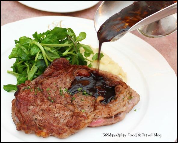 Antoinette -Entrecôte Poêlée à la Bordelaise $36.00 (Black Angus Ribeye Minute Steak with Shallot Red Wine Sauce) (2)